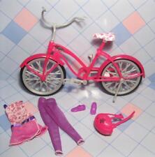 Barbie Doll Mini Clothes,Dress/pants-Bicyc le Bike Helmet Shoes fit in Pedals Set