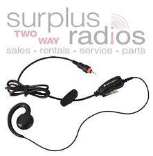 Motorola Headset HKLN4455A CLP1060CLP1040 CLP1010 OEM C Ring Style W/ PTT Clip