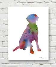 Chesapeake Bay Retriever Abstract Contemporary Watercolor Art 11 x 14 Print