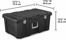 Sterilite Footlocker Storage Box Container Organizer Wheel Trunk Chest Tub Bins