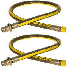 """UNIVERSAL Gas Supply Pipe Hose Tube Straight LPG Oven Cooker Stove 4ft x 1/2"""" x2"""