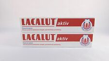 2 Lacalut AKTIV bleeding gums toothpaste -Made in Germany- 2 x 50ml