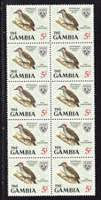 Gambia 1966 -  5s. Little Woodpecker Block 10 Mint Never Hinged