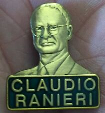 LEICESTER CITY CLADIO RANIERI GOLD BUST ENAMEL PIN BADGE