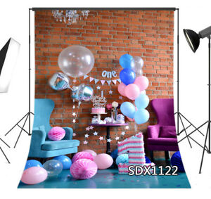 Vinyl & Polyester One Year Old Birthday Party Background Backdrop Photography