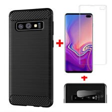 For Samsung Galaxy S10 / S10e / S10 Plus TPU Soft Case With 3D Screen Protector