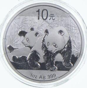 2010 China 10 Yuan - 1 Oz. Silver Panda *601
