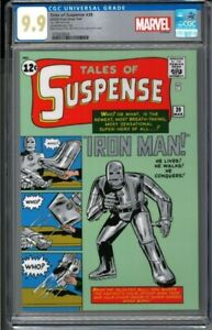 2020 Tales of Suspense #39 Iron Man 1 oz Silver Foil Cover CGC 9.9 - 1000 Made