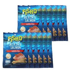 12Pcs FISHO Alaska Salmon SPICY Flavor Fish Snack Party Low Fat Halal Food 20g