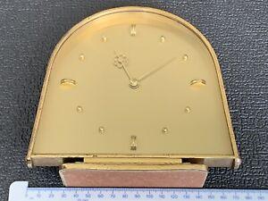 Vintage Smiths Mantel Clock Round Arch Top Retro Shelf Brass Clock