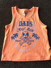 SUMMER VACATION TODDLER TOP SHIRT T-SHIRT SIZE 4T - DAD'S FIRST MATE - EUC- 4OL