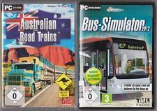 Bus Simulator 2012 chauffeur de bus + Australian Road Trains truck camion Collection PC
