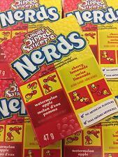 Wonka Nerds Lemonade Wild Cherry & Apple Watermelon Candy 24 Packs FREE SHIPPING