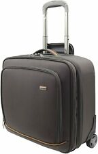 Melvin Luxury 17 Inch Roller Briefcase Cabin Case Laptop Bag 2-Wheel Trolley