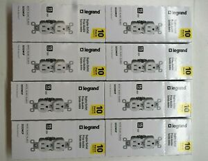 Lot Of 80 Legrand Pass & Seymour Duplex Outlet 15 AMP 125V 323WCP White