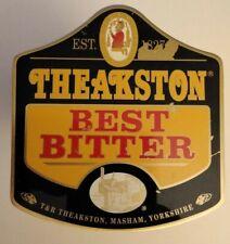 Vintage Pump Clip Badge Theakston Best Bitter Breweriana Decor - Free Ship!