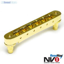 Graph Tech PM-8843-G0 - NV1 4MM TUNE-O-MATIC Bridge RESOMAX ALLOY Saddles - GOLD