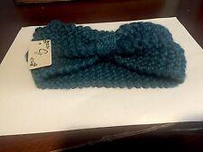 Women's Crochet Knit Handmade Blue Teal Headband/Ear Warmer NWT