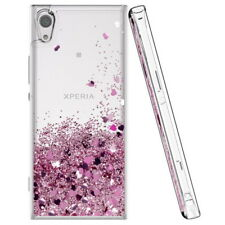 For Sony Xperia XA1 L1 XZ2 Glitter Case Liquid Quicksand Clear Soft Rubber Cover