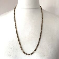 """Vintage Gold Tone Figaro Chain Necklace 28"""" Long Retro Power Dressing Runway"""