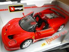 Bburago #3352 Ferrari F50 1995 Red Convertible 1:18 Scale Die Cast