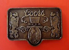 Vintage Coors Bonquet Beer Adolph Coors Company Colorado  Belt Buckle