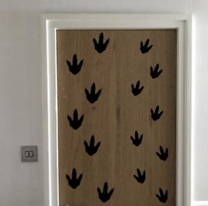 26 Dinosaur Foot Prints mixed size, vinyl wall sticker, self adhesive