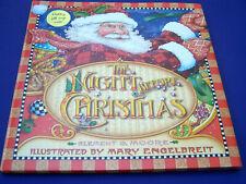 2002 M Engelbreit NIGHT BEFORE CHRISTMAS First Ed HC/DJ Holiday Gift Wrap Inside