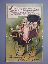 R&L Postcard: Birn Bros BB, Pram to Push Along, Babies, Rattle, Dummies