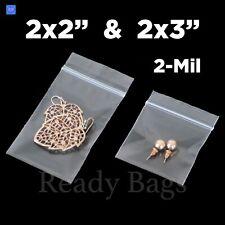 Clear Small Zip Lock 2x 2 2x 3 Plastic Bags 2mil Reclosable Jewelry Baggies