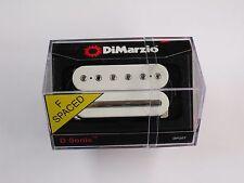 DiMarzio F-spaced D-Sonic Bridge Humbucker White W/Chrome Poles & Rail DP 207