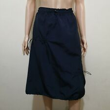 C694 - Stage R2W Soment Bluish Black Garterized Water-resistant Long Skirt