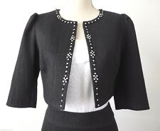 REVIEW Beaded  Black Bolero Jacket Size 10 US 6 rrp $279.95