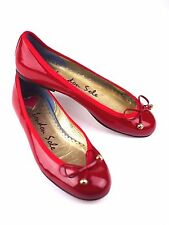 LONDON SOLE Henrietta 6.5 US / 37 RED PATENT Leather Ballet Flat w/ Patent Bow