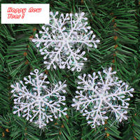 6CM 24PCS Christmas Snowflake Hanging Decorations For Wall Windows Decor NEW