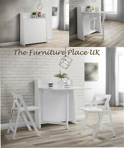 HELSINKI COMPACT FOLDING WHITE DINING SET 2 MAN DELIVERY