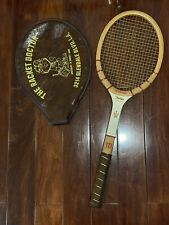 New listing Vintage Wilson Jack Kramer Autograph Tennis Racquet Wood Light 4 1/2 With Cover