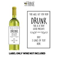 Funny, cute, rude, sarcastic,WINE LABEL.Birthday/Fathers Day/ Gift PERSONALISED