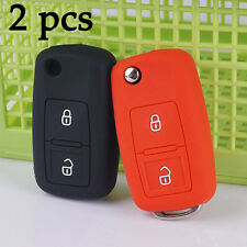 Black and Red silicon Flip Cover Case for Volkswagen Amarok Polo Golf MK4 Bora