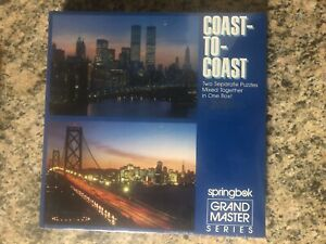 Springbok Grand Master Puzzle Coast To Coast TwinTowers Golden Gate 2 Jigsaw NIB