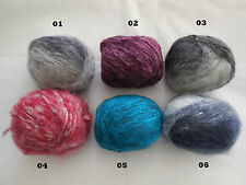 A Mohair wool yarn 100% Skin fibers various colours choices,sold by per 50g/roll