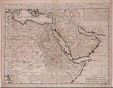 Antique map, Carte particuliere de l'Egypte de la Nubie et de l'Abyssinie