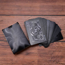 Waterproof Black Plastic Playing Cards Collection Poker Cards Creative Gift QW
