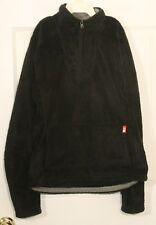 The North Face Black Fleece Pullover Jacket 1/4 Zip Kangaroo Pocket Women's S