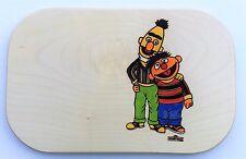 Frühstücksbrett Ernie und Bert Holz Namen Gravur Vesper Frühstücksbrettchen neu