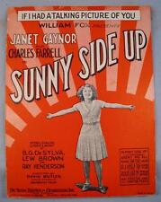 If I Had A Talking Picture Of You Sheet Music Vintage 1929 Sunny Side Up (O)