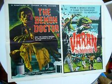 Varan Awful Doctor Orlof British Quad movie poster double-bill horror Godzilla