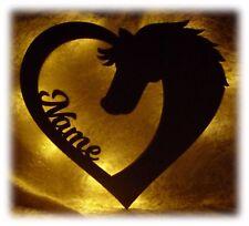 Pferd Pferde Kinder Lampe mit Name für Kinder Kind Mädchen Led Deko Geschenke