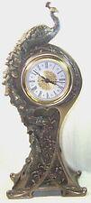 Pendule Art nouveau - Paon - Ecole de Nancy