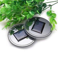 Solar Energy Holder Bottom LED Light Cover Trim for All Car Cup Coaster Mat Pad